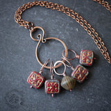 Hildegard's Knitters Stitch Marker Set Necklace.