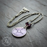 Labyrinth Pendant Necklace Chartres Everyday Meditation Necklace