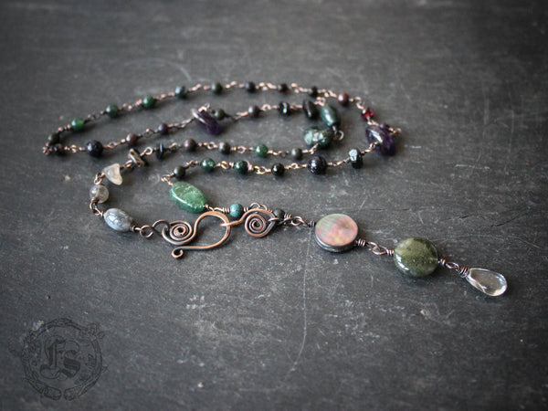 Witches Ladder Necklace Custom Pagan Rosary Necklace.
