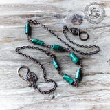 Seven Wonders Necklace in Copper and Malachite.