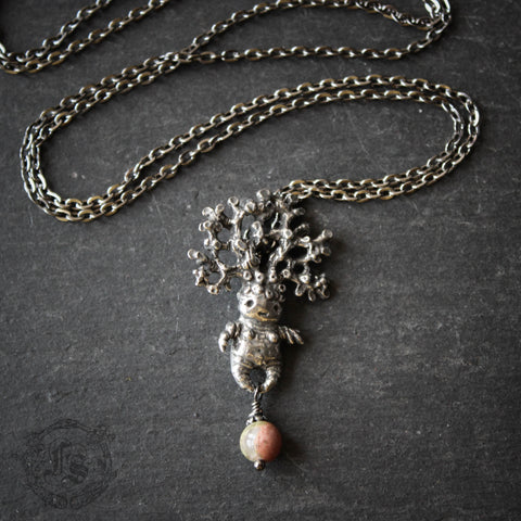 Mandrake Lady Pendant with Unakite.