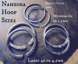 Nahusha Hoops. Hammered Hoop Earrings for Gauged Ears. Ear Weights. Made to Order.