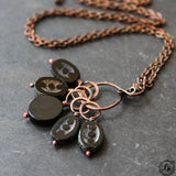 Dark Moon Stitch Marker Necklace. Set of 5 Markers for Top Down Knitting Witch Stitches.