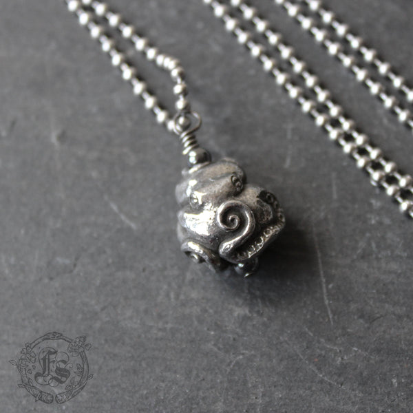 Octopus Totem Pendant Necklace.