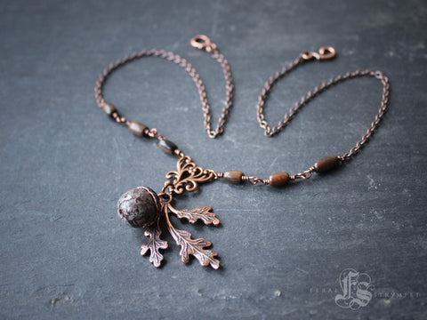 The Oak King's Bride Necklace in Copper.