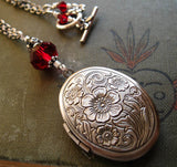 Poppy Locket. Witch's Locket Necklace With Custom Colours