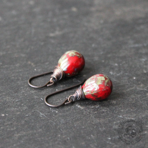 Red Rustic Drops for Sensitive Ears.