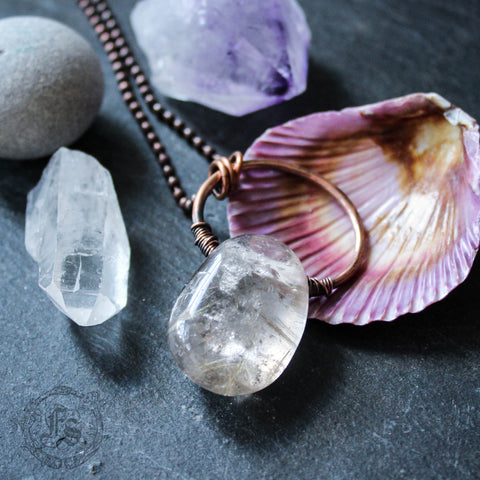 Siv. Rutilated Quartz Pendant Necklace.