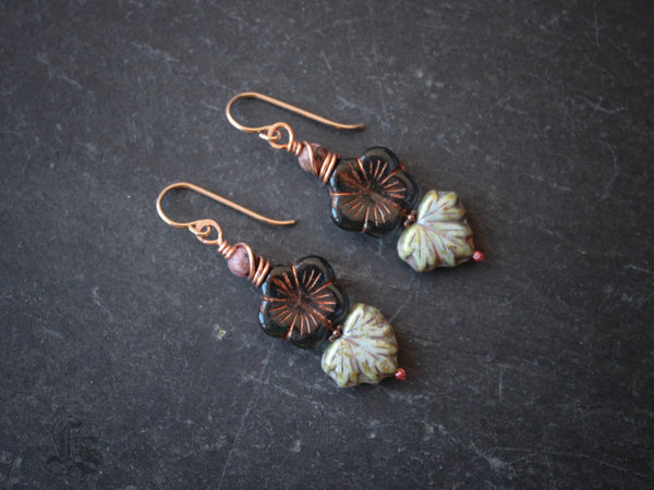 Winter Sakura Blossom Earrings.