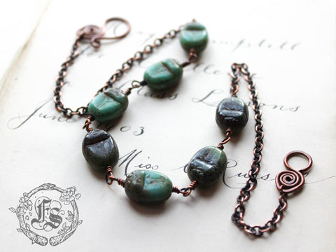 The Khephri Priestess. Scarab Amulet Necklace.