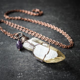 Reykel. Smoky Quartz Point Necklace in Sterling Silver