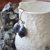 Vindalf Ear Weights.  14g Sodalite Ear Weight Hangers.