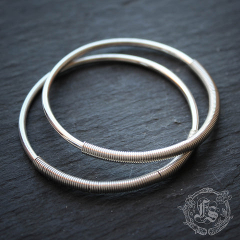 Ear Weight 12g Hoops in Sterling Silver. Unisex Tesla Gauges. Threaders for Tunnels.