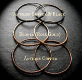 Tesla Hoops in 12g. Threaders in Copper, Bronze or Black Coils