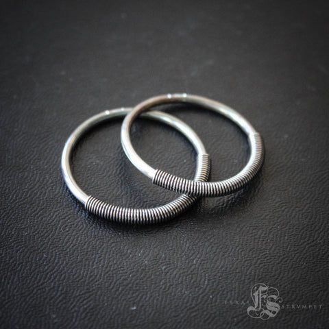 12g Mini Tesla Hoops in Sterling Silver.