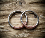 6g Tesla Ear Weight Hoops in Aluminium with Rose Gold, Gunmetal, Antique Brass or Black Coloured Copper