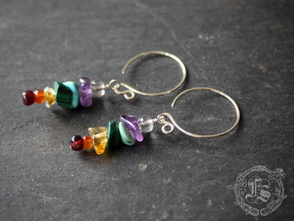 Tiny Bifrost Earrings in Sterling Silver.