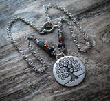 Tree of Life Necklace in Silver Plate Wicca Pagan