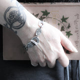 The Fairy Palimpsest Bold, Rustic Statement Bracelet in Pewter.