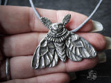 Moth Witch Pendant Necklace.