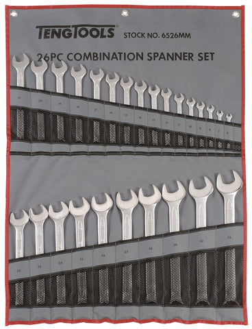 26 Piece Combination Spanner Set