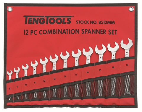 12 Piece Combination Spanner Set
