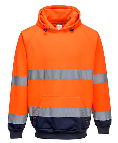Hi-Vis Two-Tone Hooded Sweater