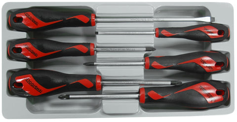 6 Piece Screwdriver Set (Flat,PH,PZ)