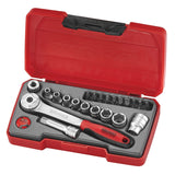 "22 Piece 1/4"" Drive Socket Set"