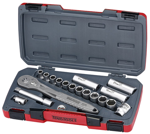 18 Piece Stainless Steel Socket Set