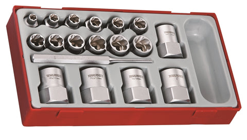 "18 Piece 3/8""-1/2"" Drive Stud Extractor Set"