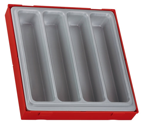 4 Compartment Double Storage Tray