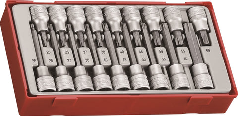 "18 Piece 1/2"" Drive TX Bit Socket Set"