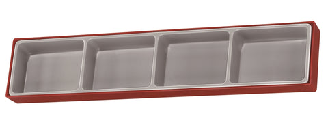 Empty 4 Compartment TTX Storage Tray