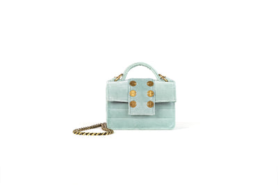 Petite Velvet Light Green w. strap