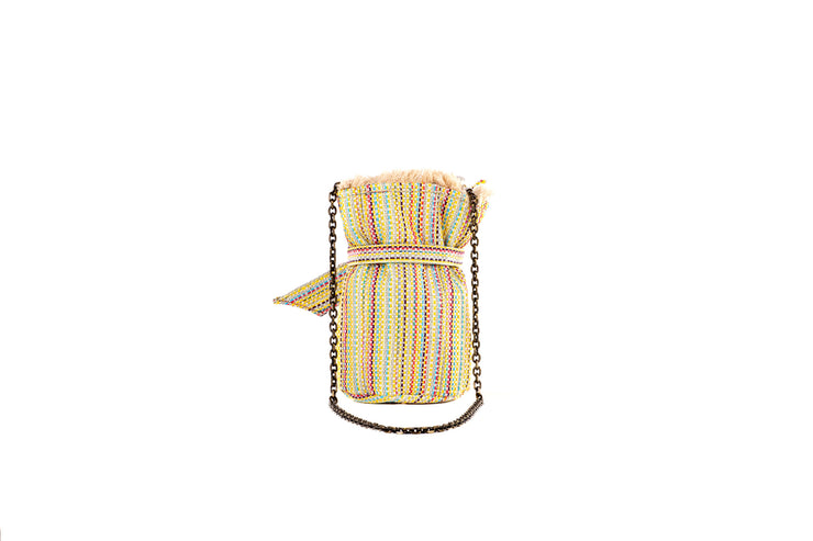 Tweed Pouch - Charlotte Multi/Yellow