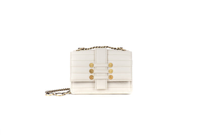 Leather Shoulder Bag - Notting Hill Cream