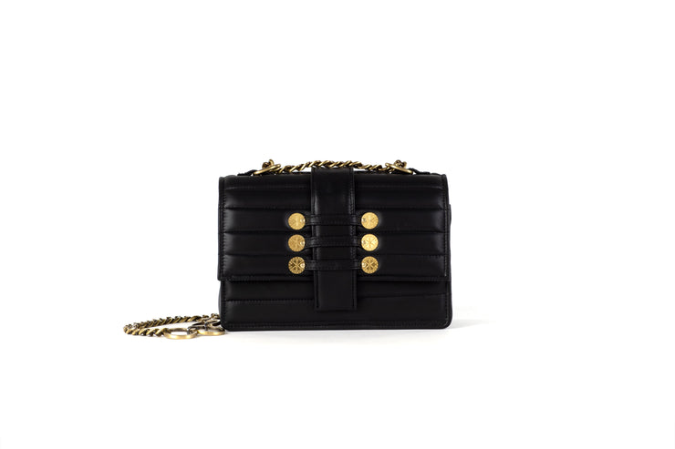 Leather Shoulder Bag - Notting Hill Black