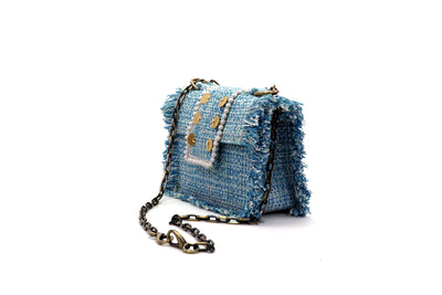 Fabric Shoulder Bag - Epiphany Minima Aquamarine