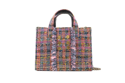 Tweed Diana Book Tote - Violet(trim)