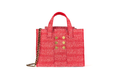 Tweed Diana Book Tote - Red Knot