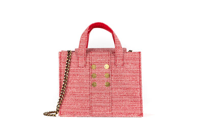 Tweed Diana Book Tote - Red Love