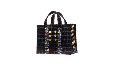 Tweed Diana Tote  Black / Grey
