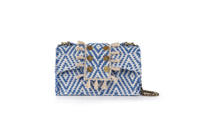 Fabric Shoulder Bag - Cali Blue cs