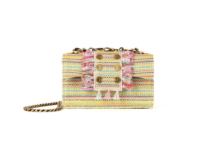 Shoulder Bag -  Soho Tweed Multi Yellow Gold coins