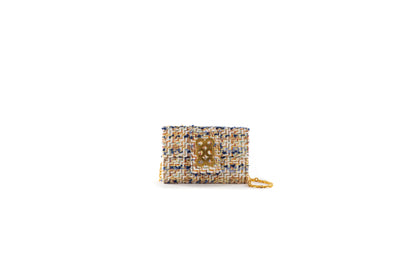 Clutch Amalfi Ivory/Blue