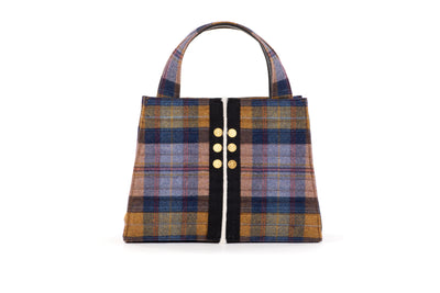 Book Tote Delta Plaid Cape Wrath Gold coins