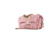 San Francisco Pillow Pink tweed sequins