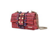 Leather Shoulder Bag - New Yorker Red