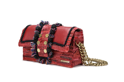 Leather Shoulder Bag - Hollywood  Red Passion cs